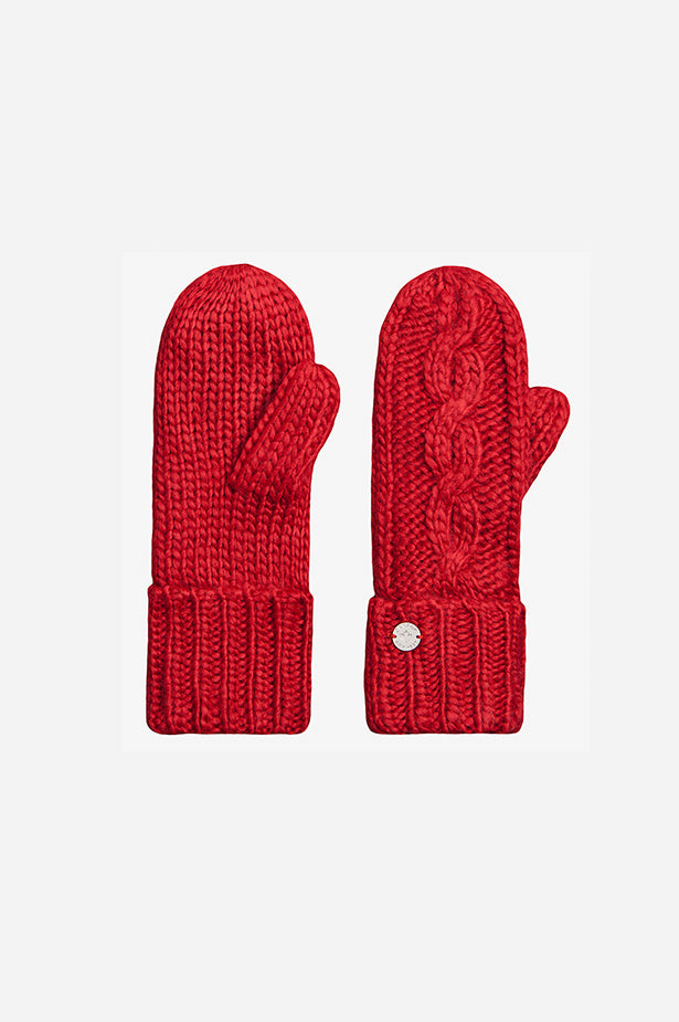 Cable Mitt Red