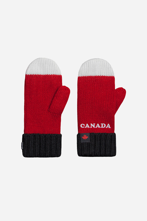 GET RED! Canada Tricolour Mitt Red White Black