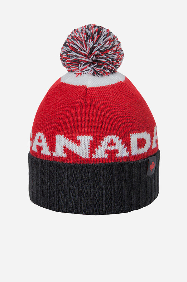 GET RED! Canada Tricolour Beanie Red White Black