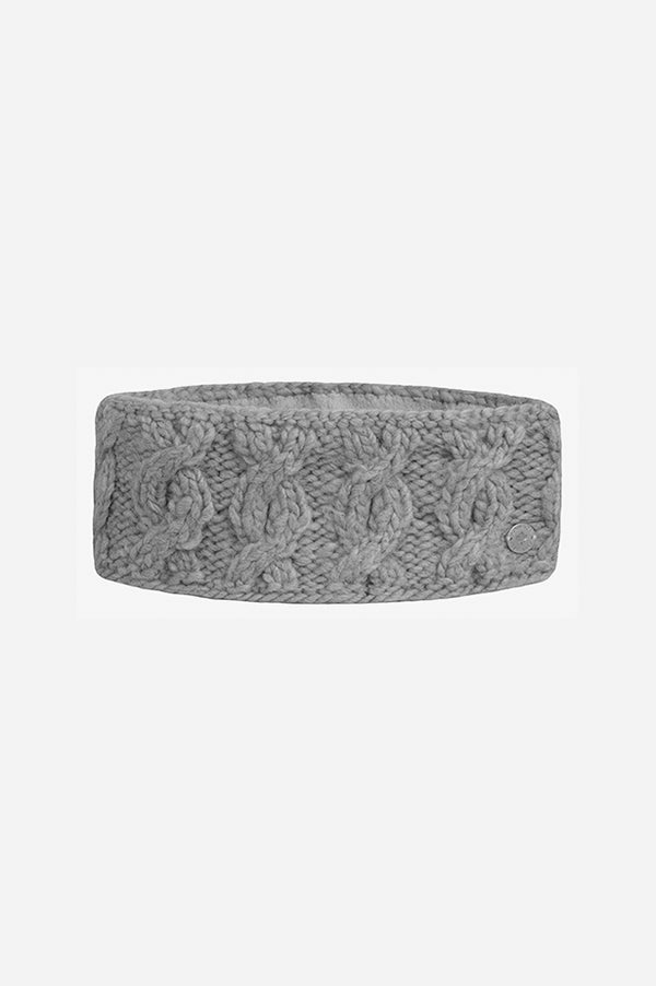 Cable Headband Heather Grey