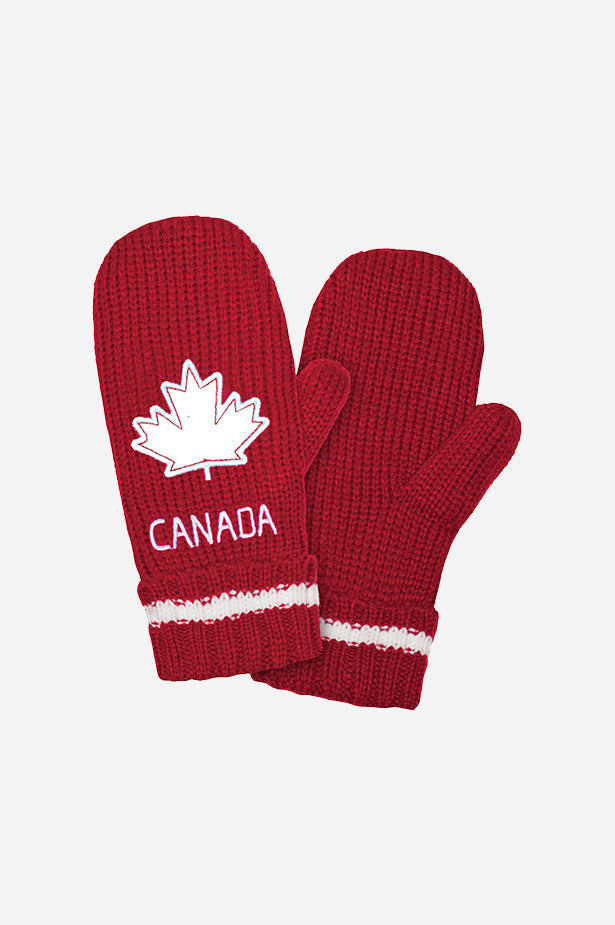 GET RED! Canada Mitt Red