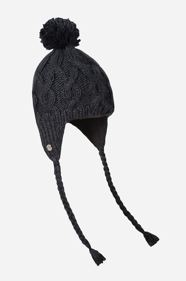 CABLE FLAP POM HAT