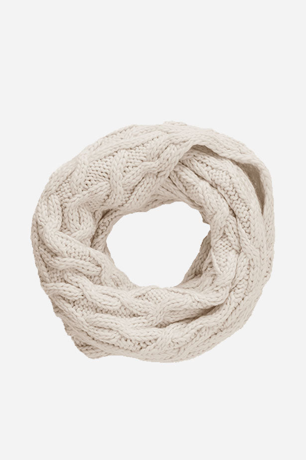 Cable Infinity Scarf Natural