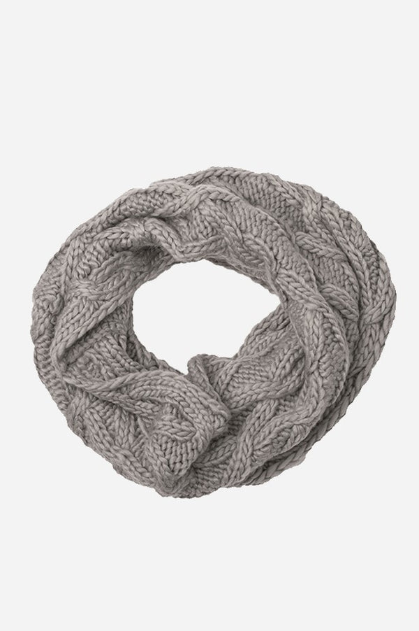 Cable Infinity Scarf Heather Grey