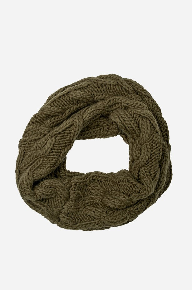 Cable Infinity Scarf Military
