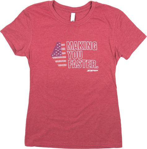 Zipp Making You Faster USA T-Shirt - Women's