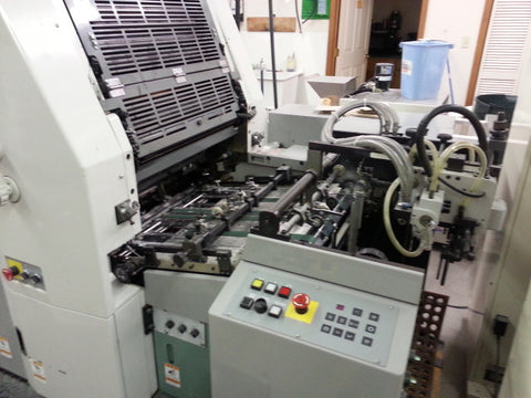 Picture of Hamada Four Color Press model B452A, -----   clean, very nice running press.