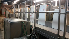 2007 Komori LSX 529C 24 x 29 LED press curing -  5 Color + Aqueous Coater