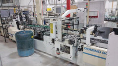 1995 Bobst Domino 90 Straight Line, auto bottom Gluer