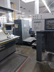 Heidelberg SM 102 6-P-L Six color plus aq. coater