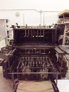 Picture of Heidelberg Cylinder Press Model SBB 32 Inch wide