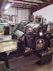 Heidelberg Cylinder Press Model SBB 32 Inch wide