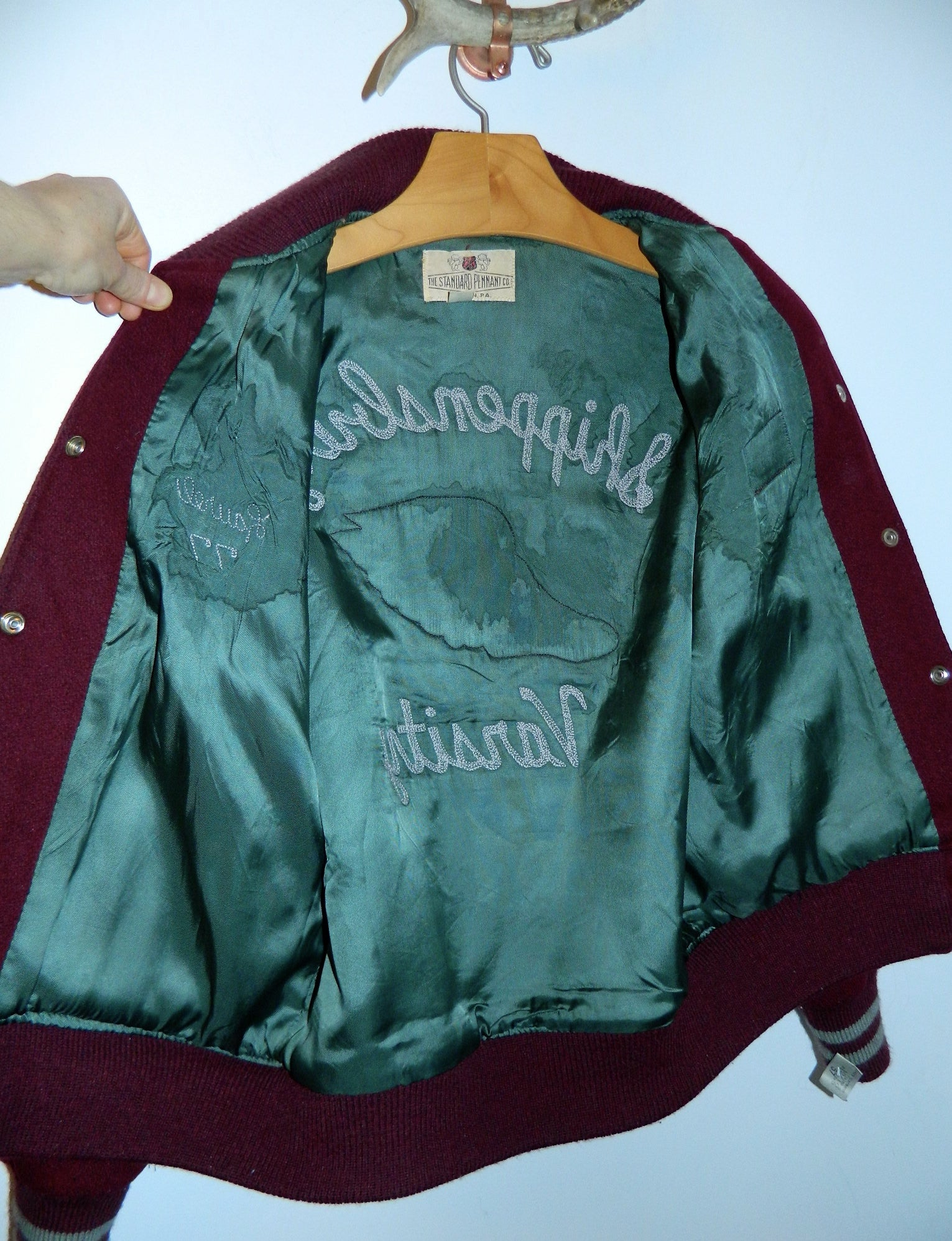 vintage 1970s wool varsity jacket womens track and field Shippensburg, PA