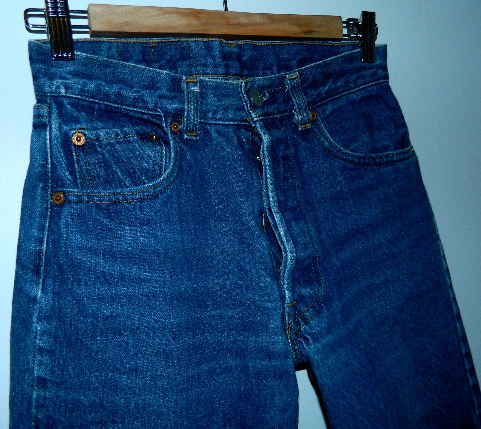 0be9b9cf vintage 80s Levi's 501 jeans Shrink to Fit 1983 size 27 – Retro ...
