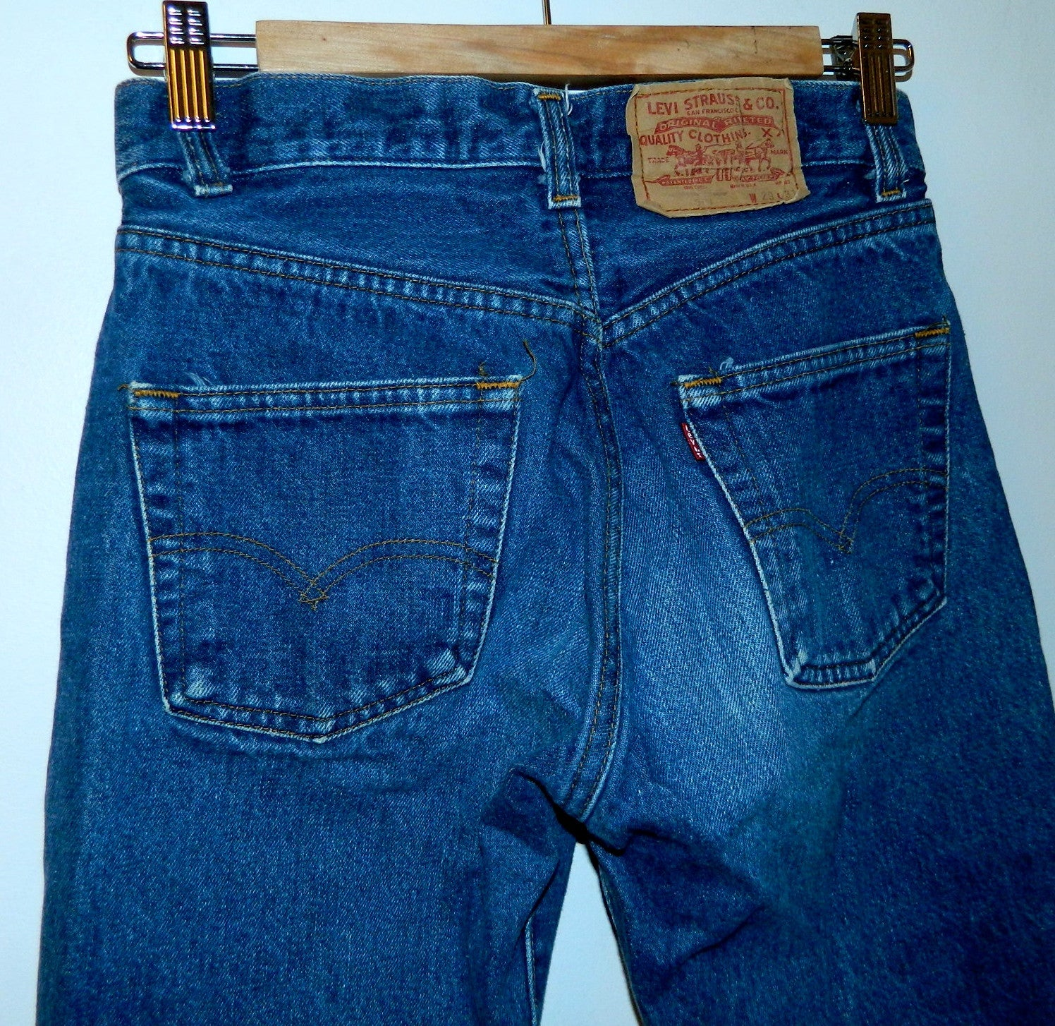 vintage 80s Levi's 501 jeans Shrink to Fit 1983 size 27