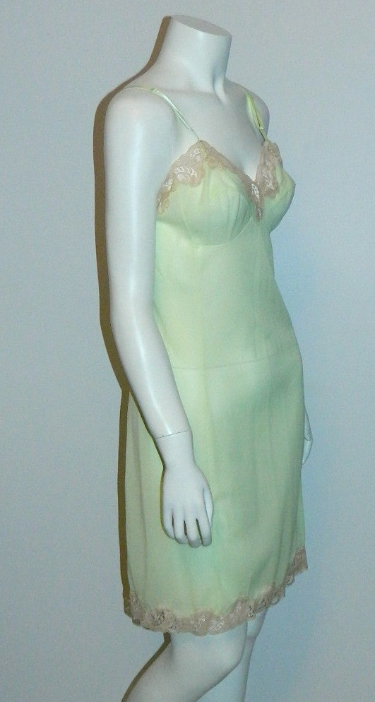 1960s vintage PUCCI slip lime green nightie 32 XS Emilio Pucci FR