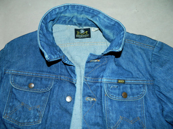 vintage denim MAVERICK Blue Bell jean jacket size 38