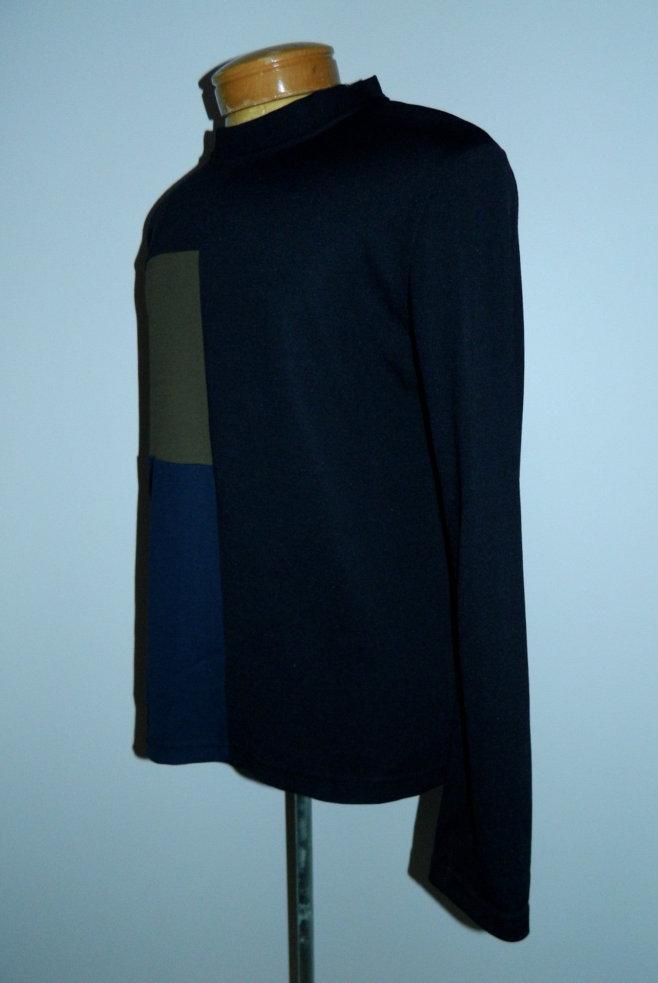 vintage 1980s shirt / DIRK BEKKEMBERGS color block Mens XL / Antwerp Six