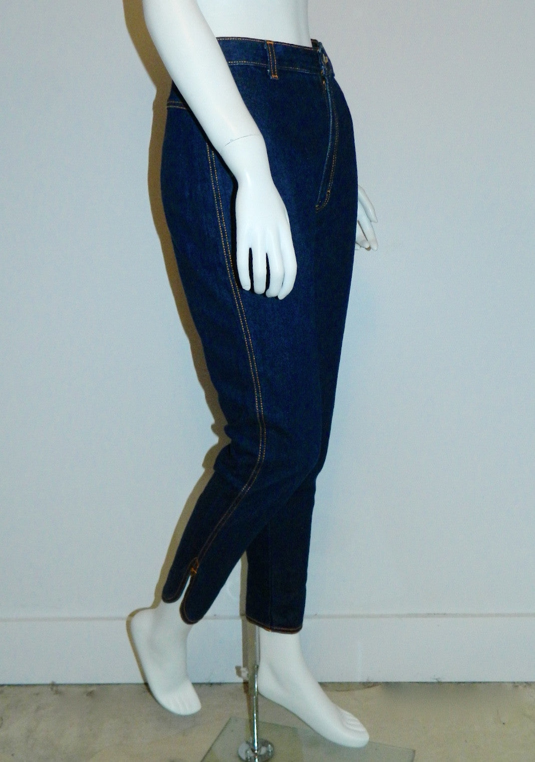 vintage 1980s does 1950s jeans / PS Gitano dark rinse skinny jeans / high waisted XS
