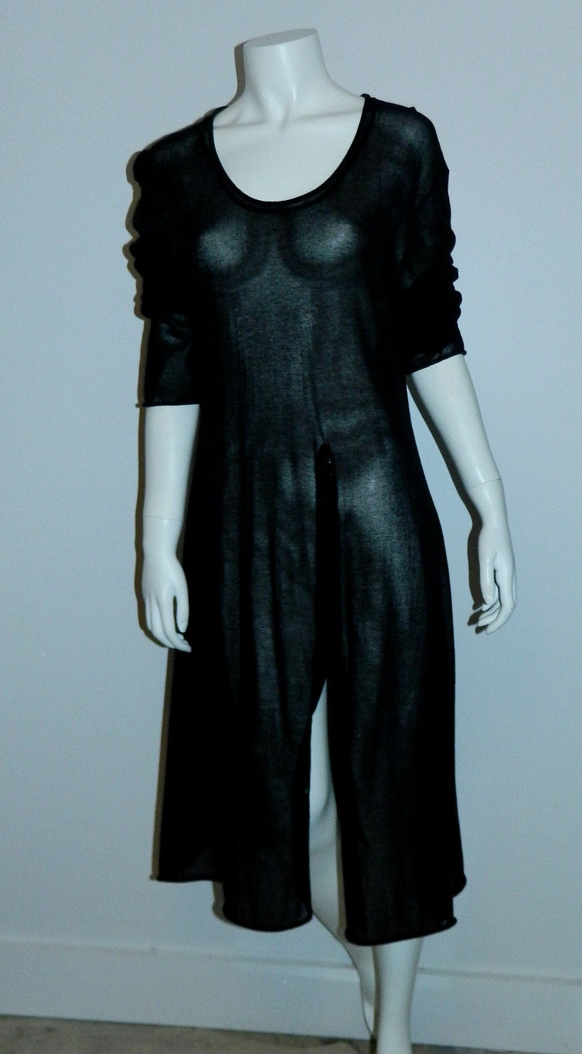 sheer weave RUNDHOLZ DIP abstract knit sweater dress OS