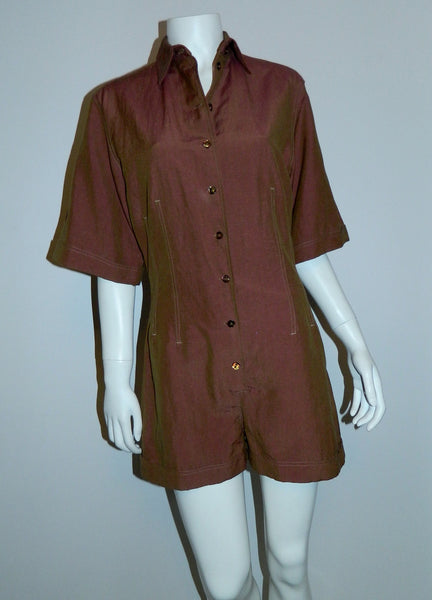 vintage 1990s romper Jean- Paul Gaultier jumpsuit shorts union suit