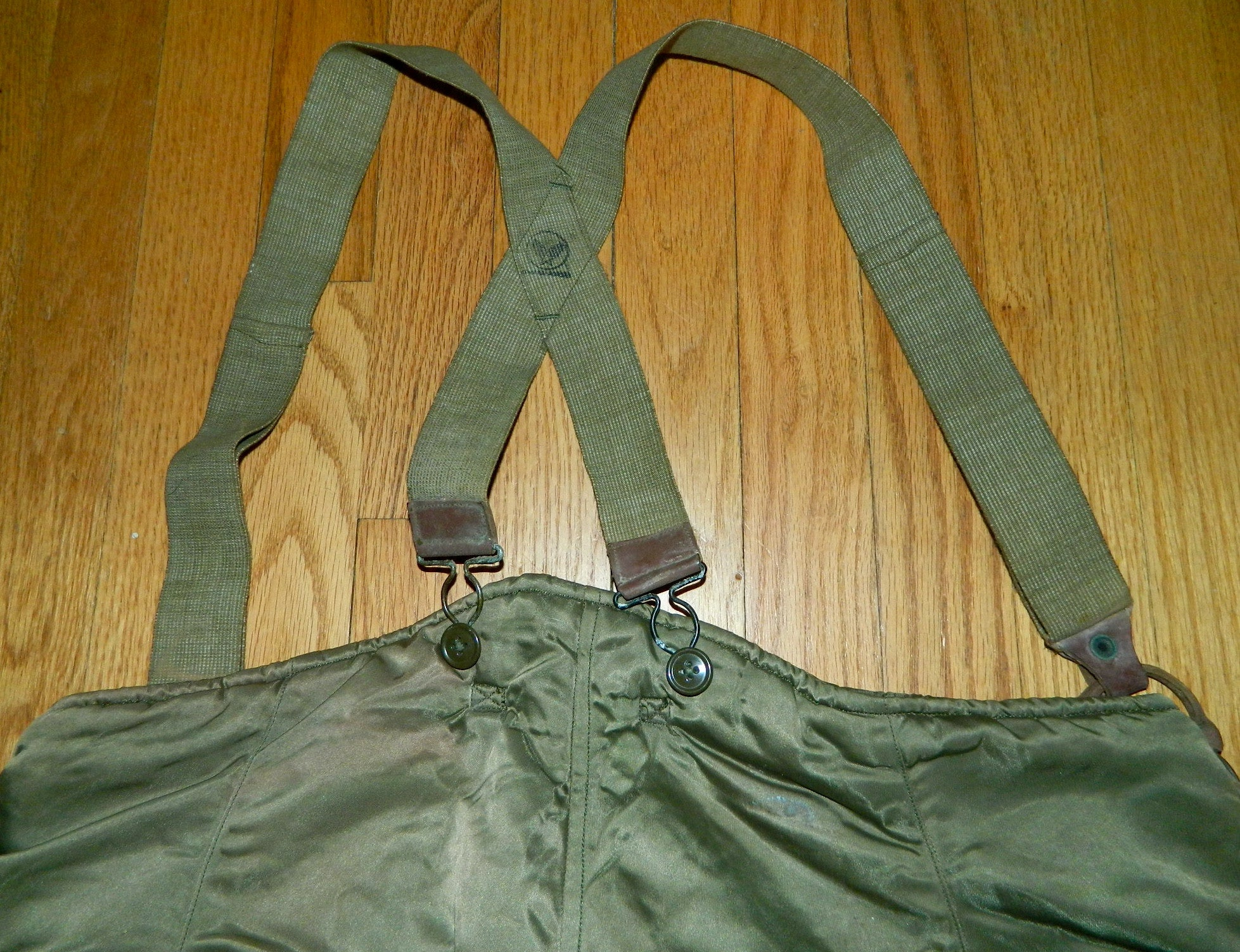 vintage 1940s Air Force arctic test pants / cold weather Ladd Field AFB US Military WWII USAAF