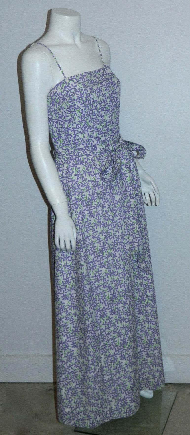 vintage Lilly Pulitzer dress 1970s purple floral gown maxi sundress XS - S