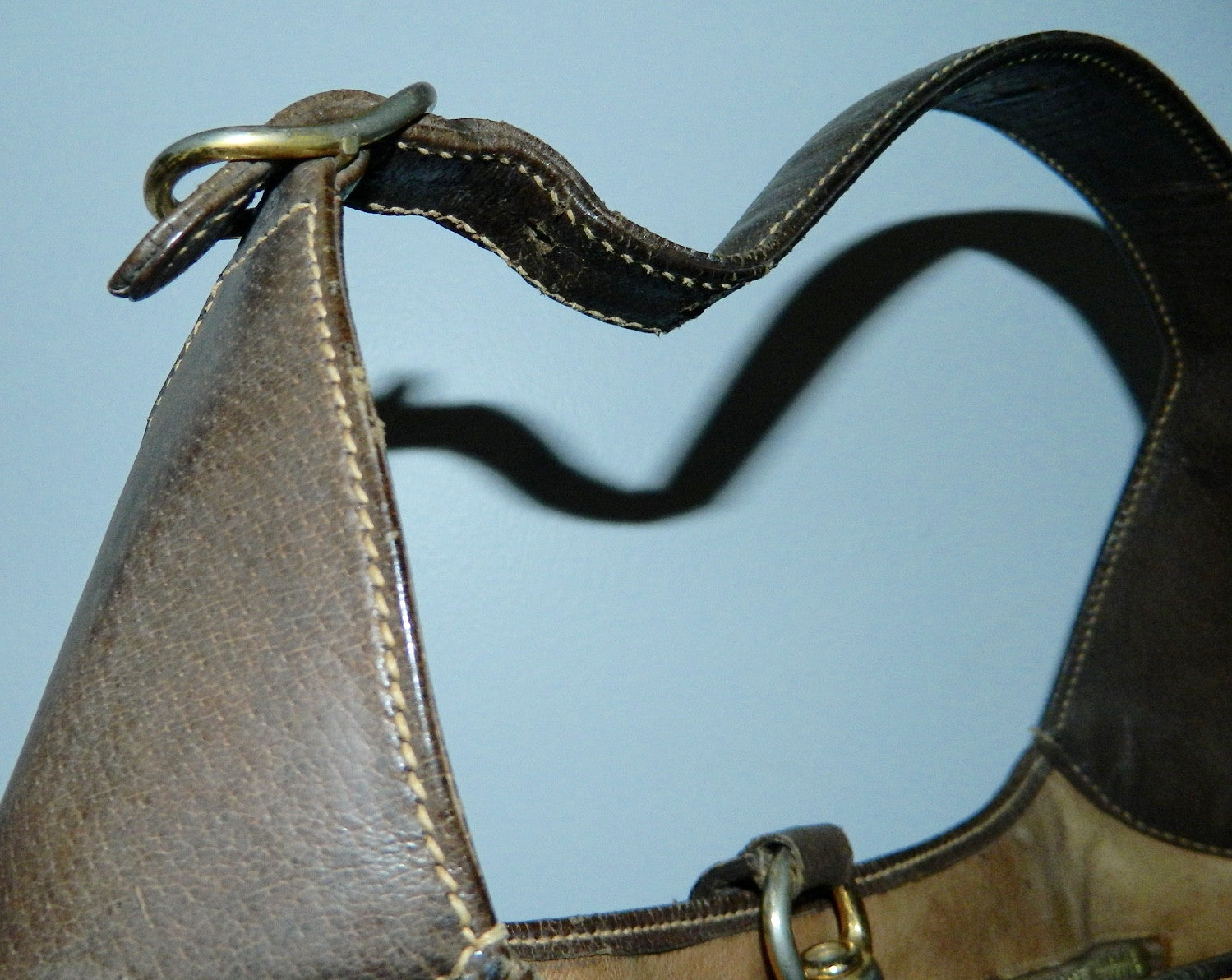"vintage GUCCI bag brown leather 1960s Jackie O ""Bouvier"" purse"