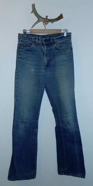 faded denim LEVI'S jeans 517 flare leg vintage 1980s boot cut jeans 31 x 36