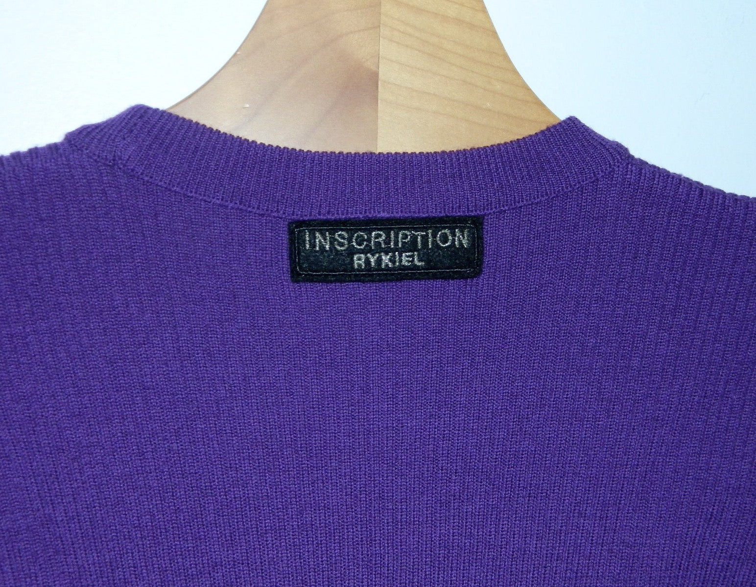 1980s bodysuit vintage Sonia Rykiel Inscription wool rib knit top sweater