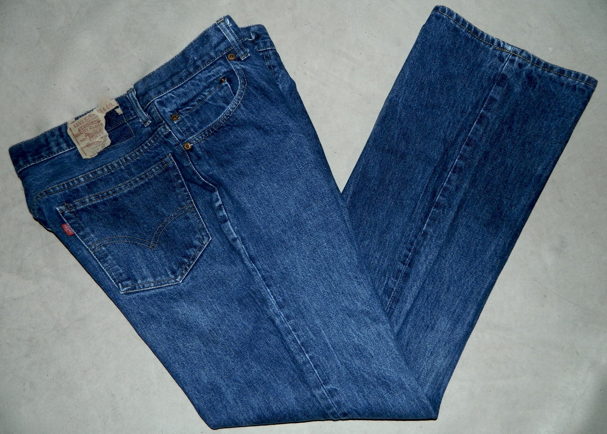 vintage 1980s jeans LEVI'S 517 boot cut dark denim 36 x 31