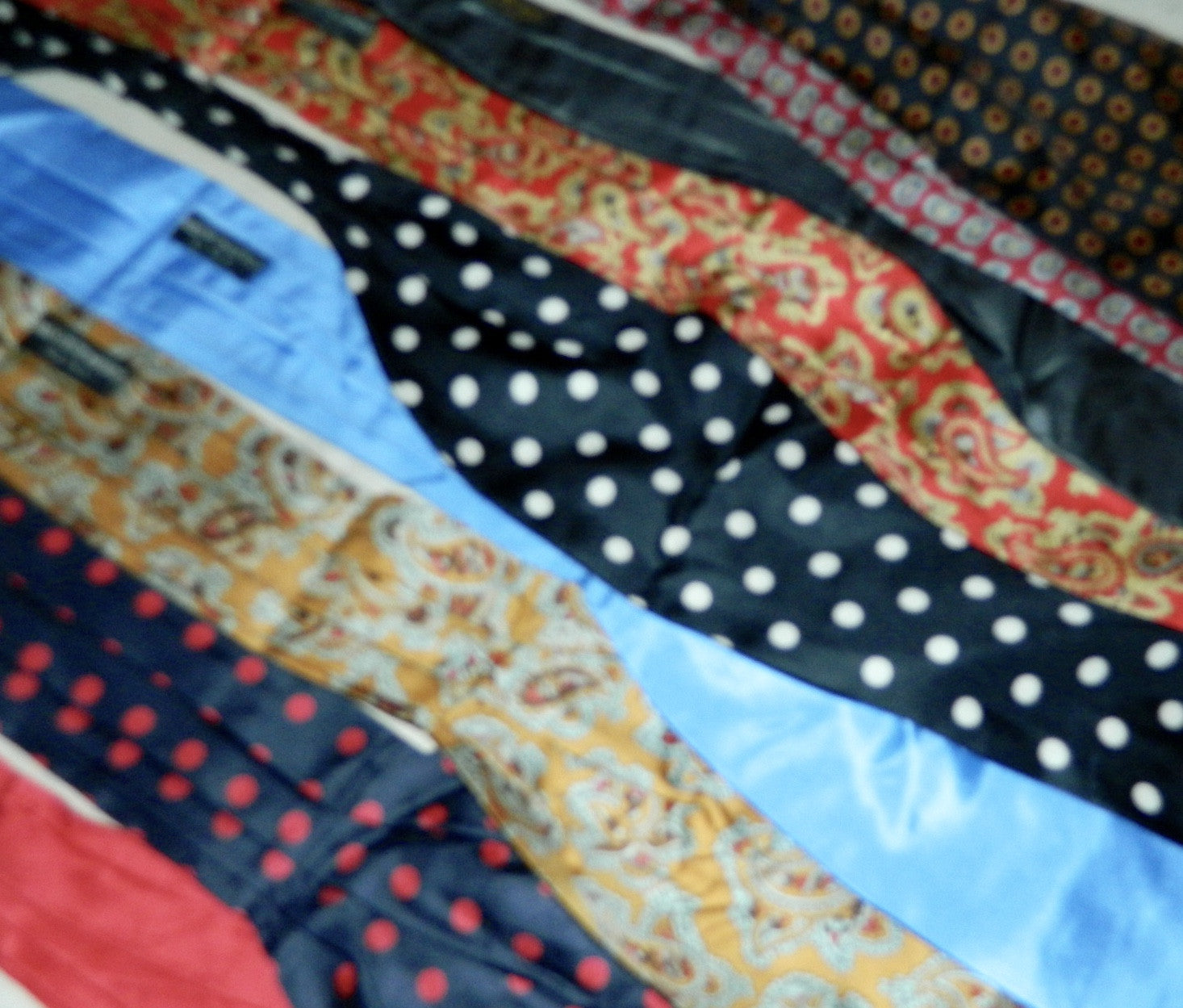 lot of vintage 1950s silk ascots Saks Fifth Avenue bow ties cravat