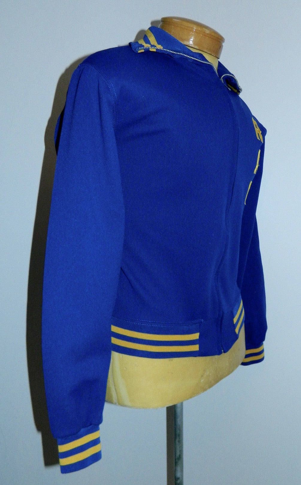 vintage varsity jacket 1970s Robinson Rams Wrestling track warm up jacket Rawlings size 36