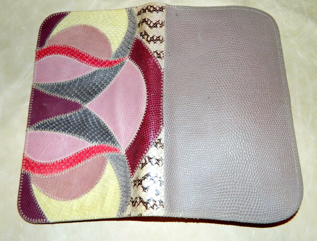 vintage 1980s Karung clutch FURST & MOONEY shoulder bag Patchwork exotic skins