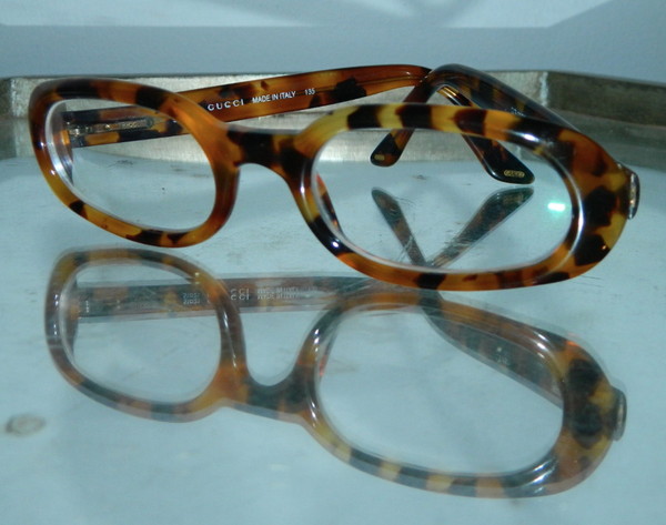 vintage 1990s glasses frames GUCCI Tom Ford tortoise eyeglasses Fendi case