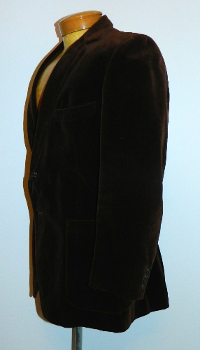 vintage 1970s blazer Yves Saint Laurent brown velvet YSL sports coat 42