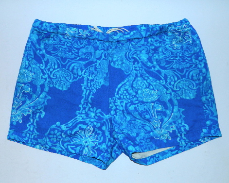 vintage 1960s SURF shorts Harriet's Hawaii blue Batik shorts Hawaiian Men's L