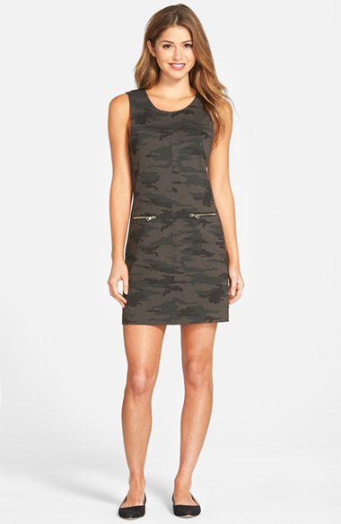 Camo Print Shift Dress