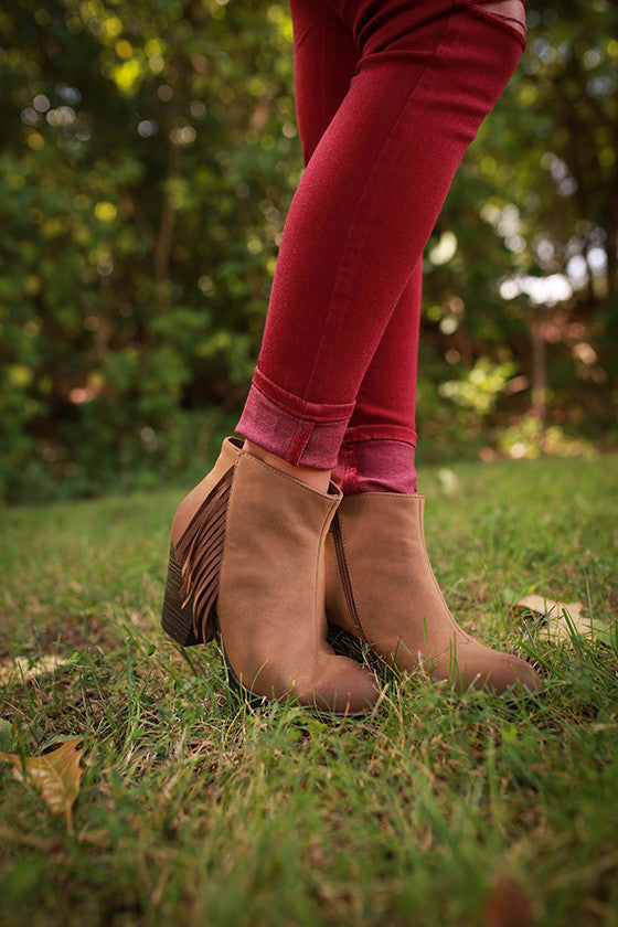 Alliance Tan Bootie with Fringe