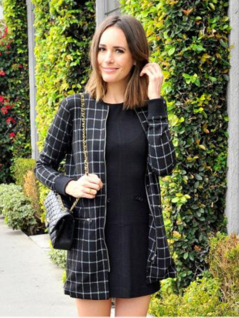 PLAID CITY COAT
