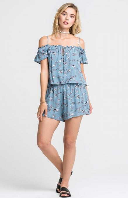 Cotton Bud Print Romper