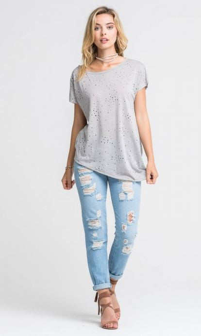 Distressed Relaxed T-Shirt