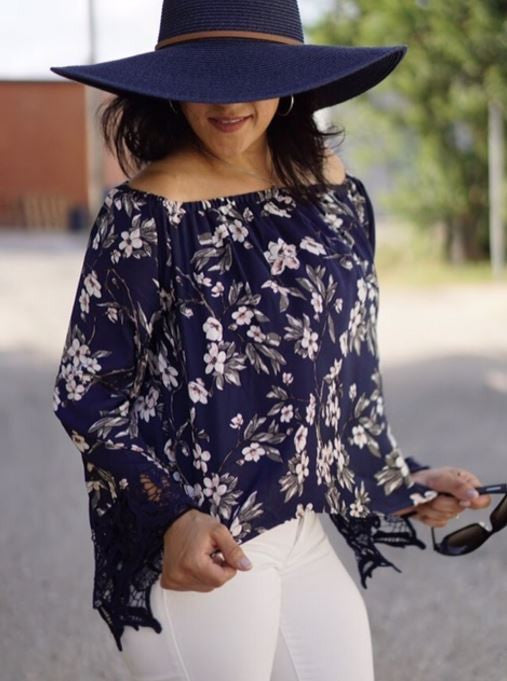 Floral Printed Long Sleeve Blouse