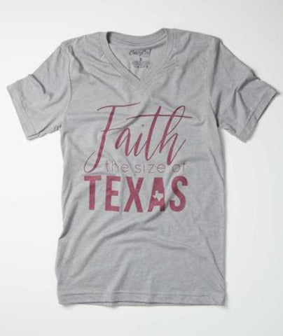 Faith The Size of Texas - V-Neck