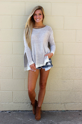 SLIT SWEATER