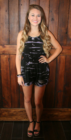 BLACK & PURPLE ROMPER