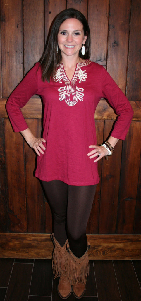 PERFECT LITTLE TUNIC IN WINE