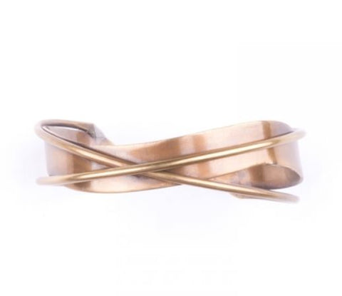 Interwoven Cuff Gold Bracelet