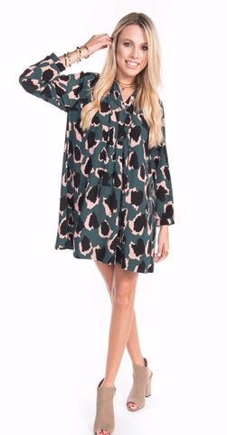 Charleston Camo Shift Dress