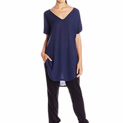 Short Sleeve Tunic Navy Top